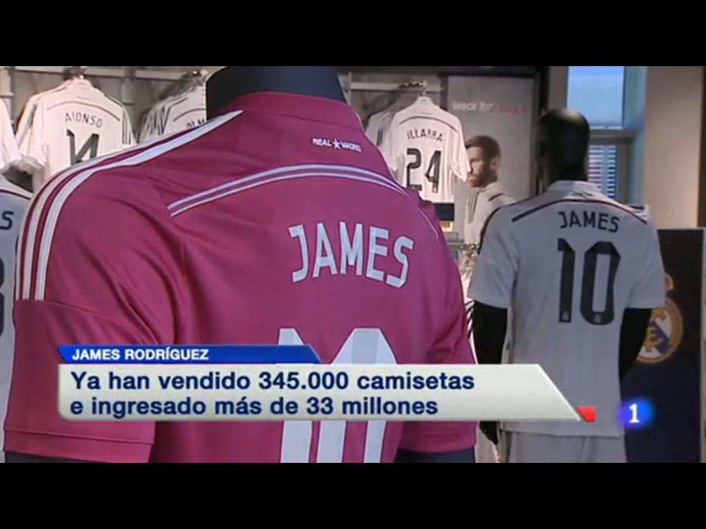 Cuando el periodismo dimite, James vende 345.000 camisetas