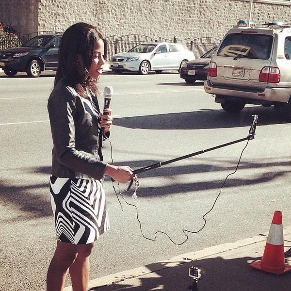 Periodismo y el palo de selfie