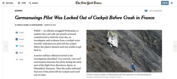 Exclusiva del New York Times sobre la tragedia de Germanwings