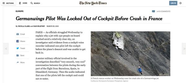 Exclusiva del New York Times sobre la tragedia de Germanwings