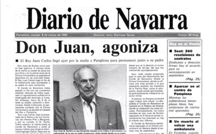 Portada del Diario de Navarra