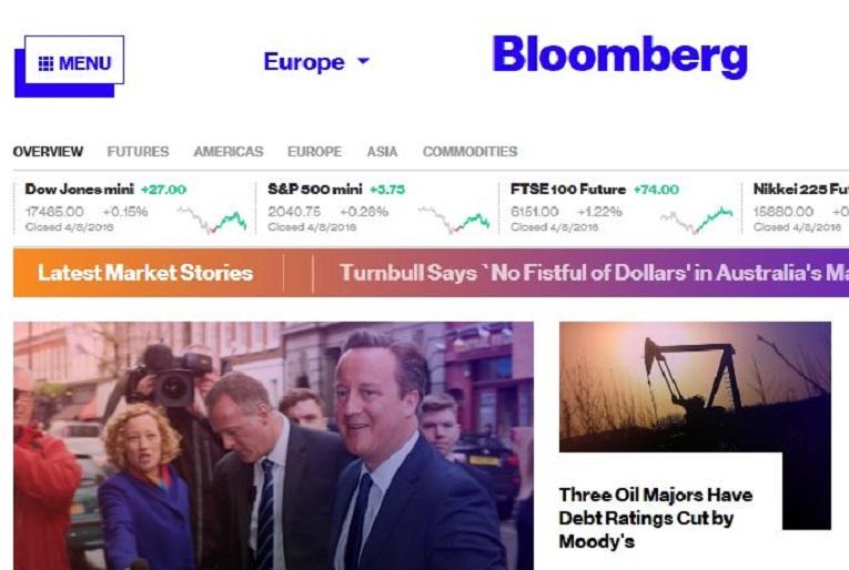 Bloomberg cree que los lectores siguen visitando la home en Internet