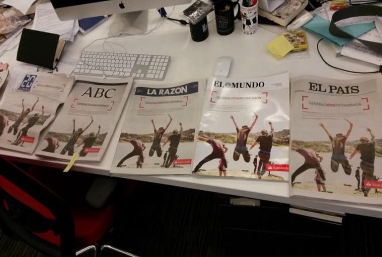 Todos los periódicos publican el mismo anuncio en sus portadas