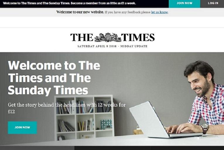 The Times solo actualizará su web tres veces al día