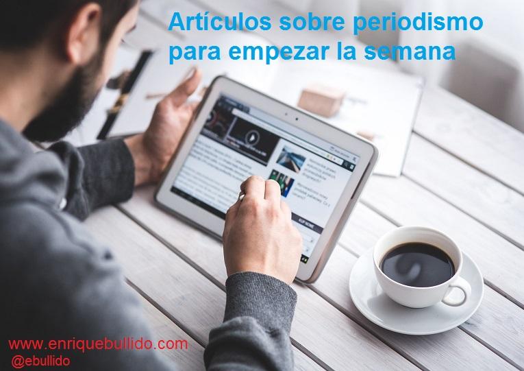 Lecturas sobre periodismo, medios de comunicación y redes sociales